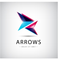 abstract arrows icon logo vector image