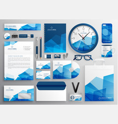 abstract blue business stationery vector image
