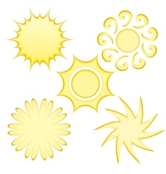 Abstract Suns vector image