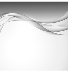 Abstract wavy design background vector