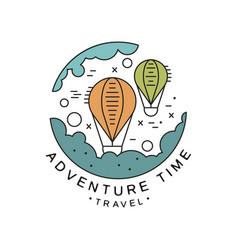 Adventure time logo design travel tourism vector