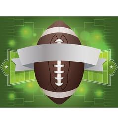 American football tournament banner vector
