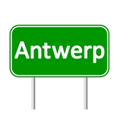 Antwerp road sign vector