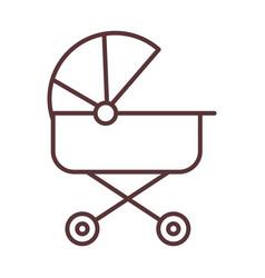bacute pram transport welcome invitation line vector image