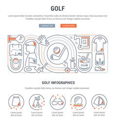 Banner golf vector