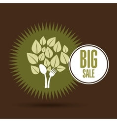 Big sale organic food healthy vector