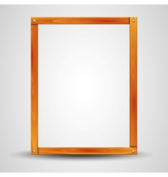 blank wooden frame vector image