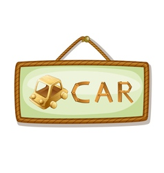 board and car vector image