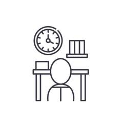 Bureaucracy line icon concept bureaucracy vector