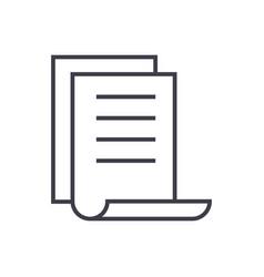 calendar filedo list line icon sign vector image