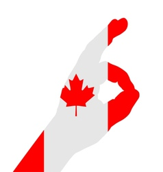 Canadian finger signal vector image