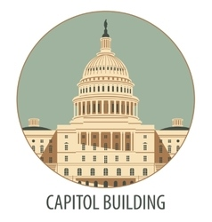 Capitol Building in Washington vector