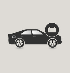 car battery service vector image