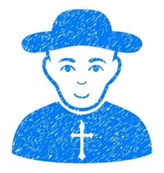 Christian priest grainy texture icon vector