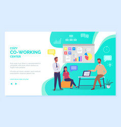 co working people webpage business meeting vector image
