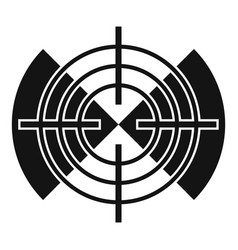 cross gun aim icon simple style vector image