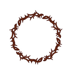 Crown thorns icon vector