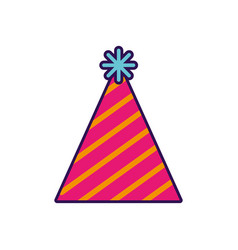 cute party hat cartoon vector image
