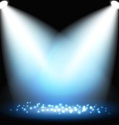 Dark background with spotlights vector