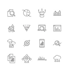 data analysis icon business strategy graphics vector image
