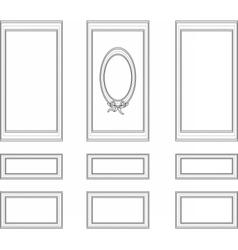 Decorative frames for walls or backgrounds vector