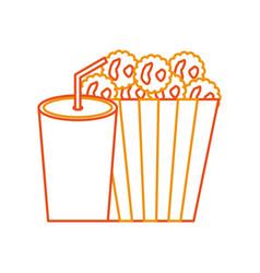 delicious pop corn with soda vector image