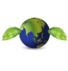 Earth green leaves vector image