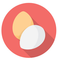 Eggs flat icon vector