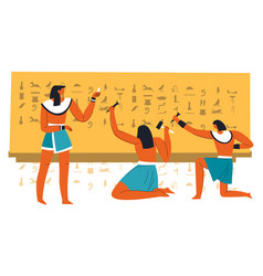 Egyptian ancient writing and science development vector