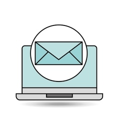 Email laptop technology design vector