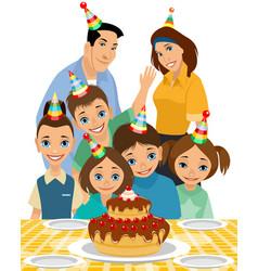 family child birthday vector image
