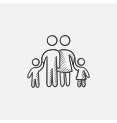 Family sketch icon vector image
