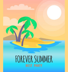 forever summer best party vector image