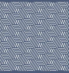 geometric wavy seamless pattern vector image