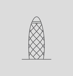 Gherkin Building vector