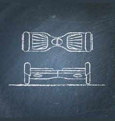 Gyroscope sketches on chalkboard vector