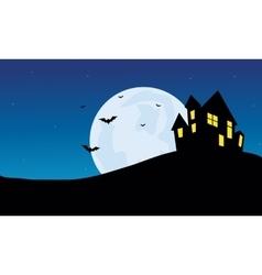 Halloween Scenery castle at night vector