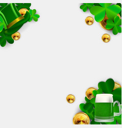 Happy saint patricks day background with clover vector