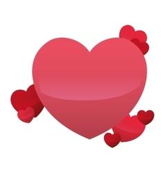 Hearts love decorative celebration design vector