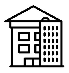 House reconstruction icon outline style vector