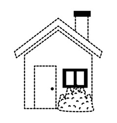 house silhouette isolated icon vector image