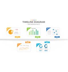 Infographic 5 modern timeline diagram dashboard vector