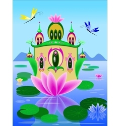Lily house vector