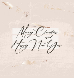 merry christmas gold glitter luxury beige texture vector image