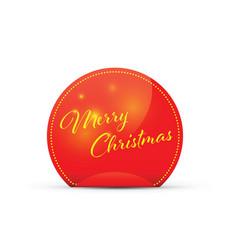 merry christmas peeling sticker vector image