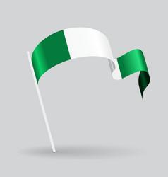 Nigerian wavy flag vector image