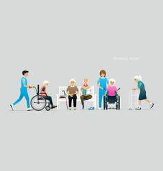 Nursing home vector