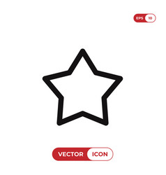 outline star icon isolated on white background vector image