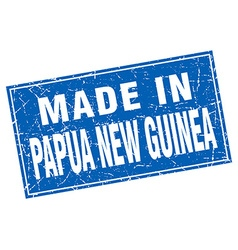 Papua New Guinea blue square grunge made in stamp vector