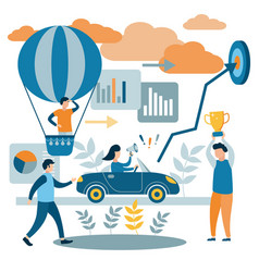 people reach their goals the concept different vector image